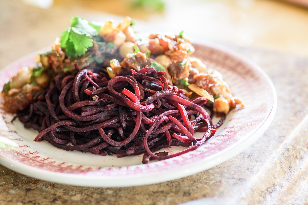 Boston Organics - Moroccan Chickpeas with Beet Noodles