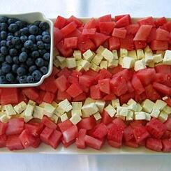 Fruit and Cheese Flag