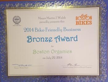 Boston Bike Friendly Business Award