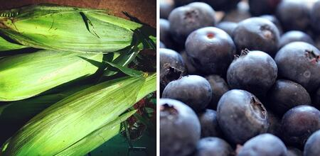 Sweet Corn and Local Blueberries