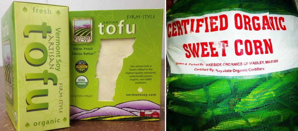 Organic Tofu and Corn | Boston Organics
