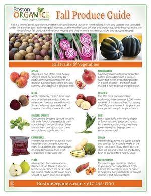 2014 Fall Produce Guide - page1 | Boston Organics
