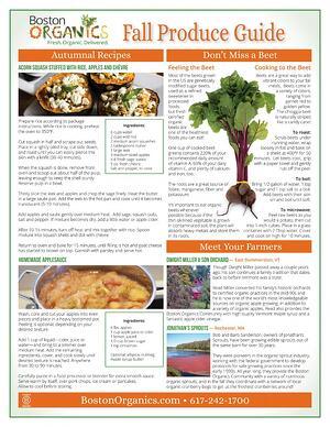 2014 Fall Produce Guide - page2 | Boston Organics