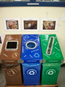 Breakroom Recycling and Composting Stations