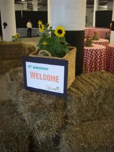 Boston Organics Welcome Sign