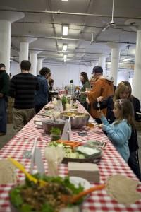 Boston Organics Buffet Table