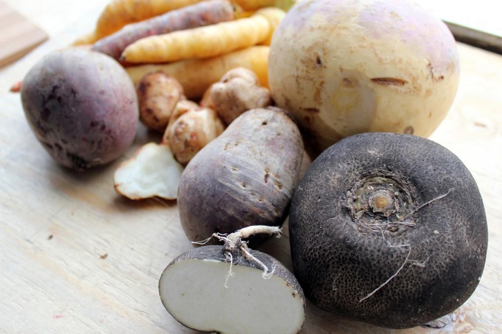 Local Organic Produce | Black Radish, Beet, Rutabaga