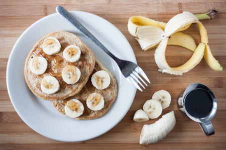 Banana Pancakes with Maple Syrup | Boston Organics