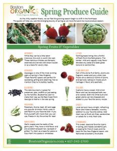 Spring Produce Guide 2015 Page 1 | Boston Organics