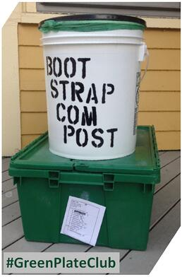 Bootstrap Compost bucket and Boston Organics bin