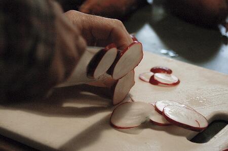 Sliced radishes | Boston Organics