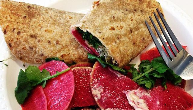 Watermelon Radish Wrap  Boston Organics