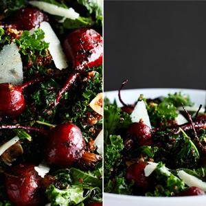 Roasted Beet and Kale Salad