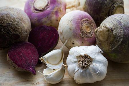 Local Organic Produce Boston | Garlic Beet Turnip