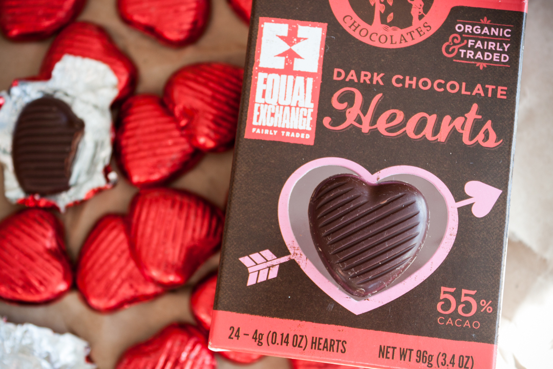 Valentine's Day Chocolate Hearts |Fair Trade Organic Equal Exchange
