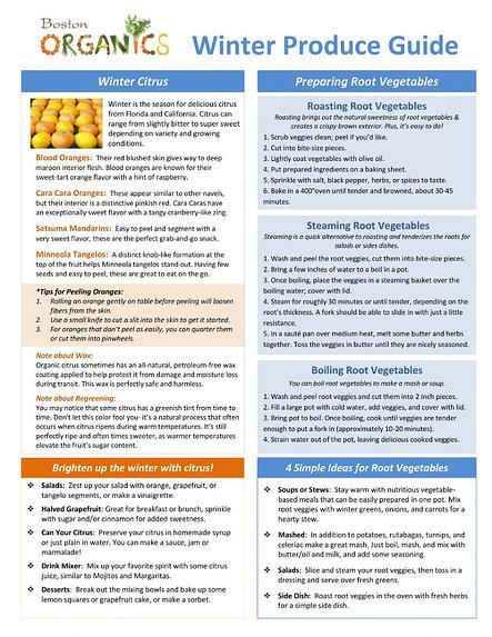 seasonal produce guide winter 2