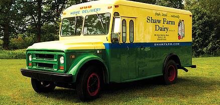 Shaw Farm dairy truck