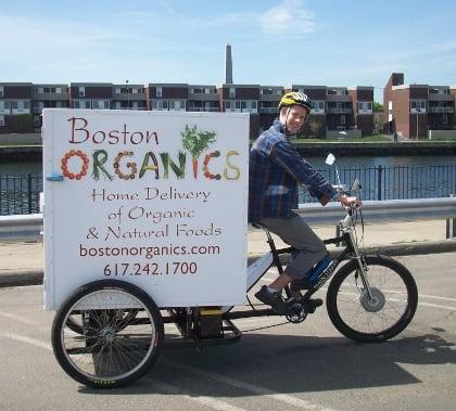 Paul on the Boston Organics Delivery Bike