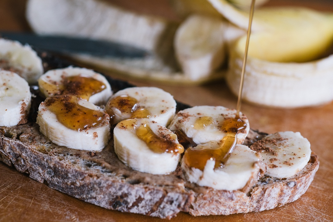 Boston Organics - Bananas and Almond Butter on Toast