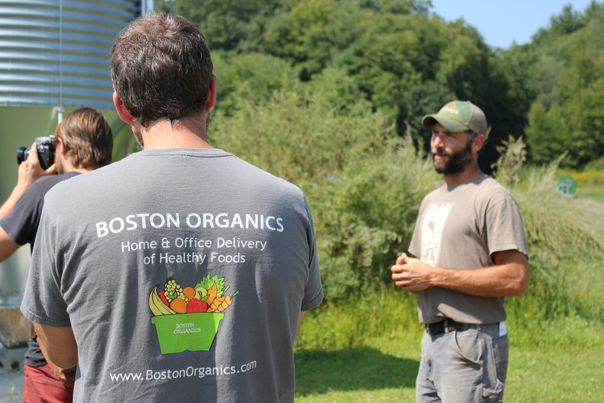 Boston Organics staff pay a visit to Atals Farm.