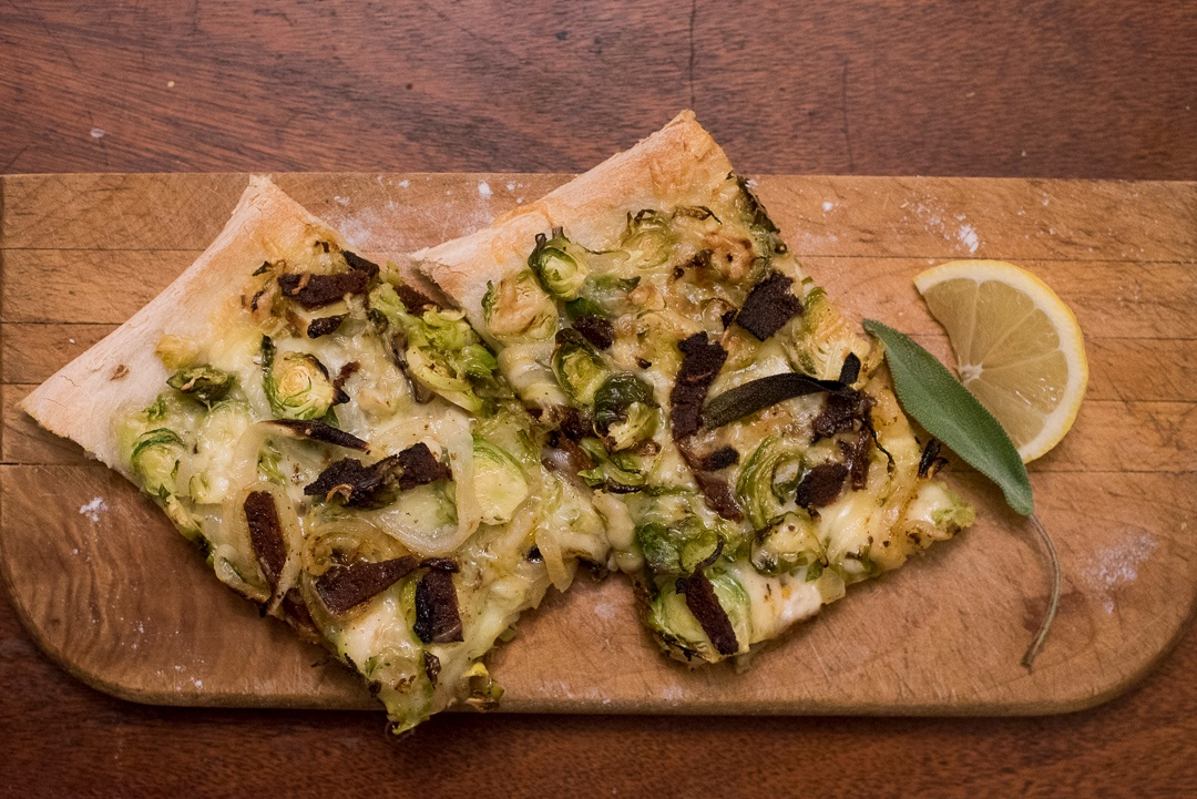 Boston Organics - Brussel Sprout Pancetta Flatbread