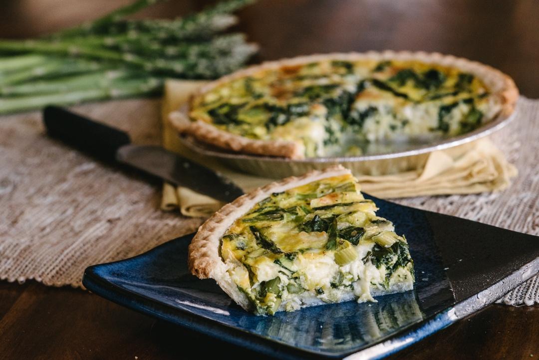 Boston Organics - Asparagus, Spinach and Feta Quiche