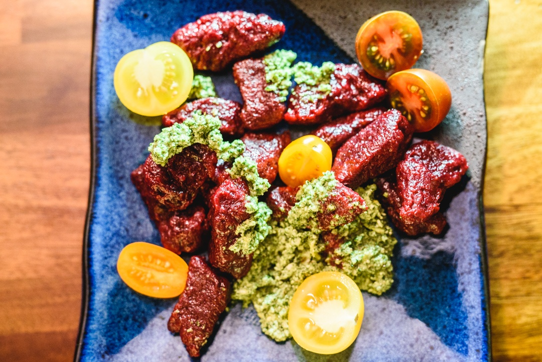 Boston Organics - Beet Gnocchi with Meyer Lemon Pesto