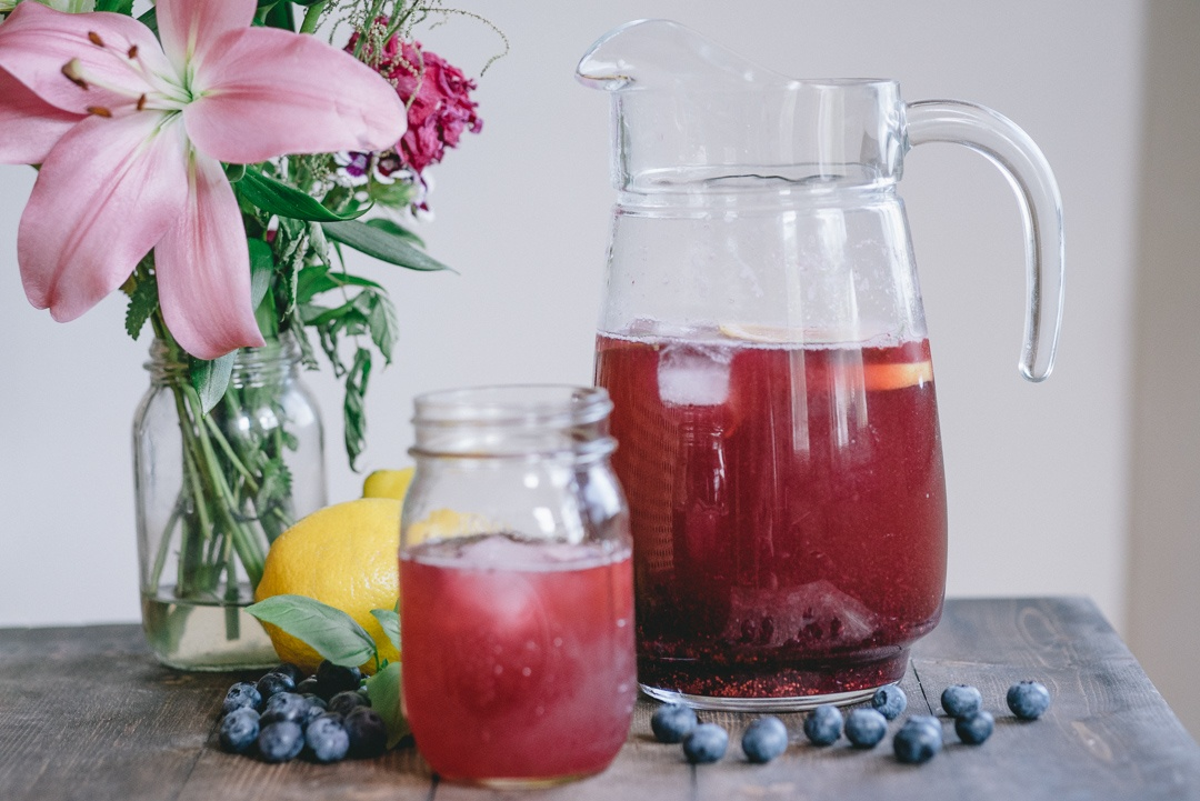 Boston Organics - Blueberry Basil Lemonade