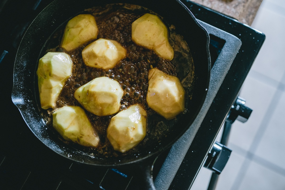 Boston Organics - Braised Pears with a Soy Ginger Glaze