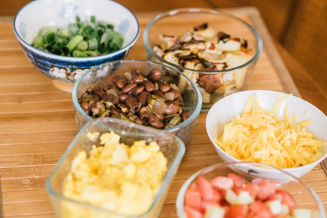 Boston Organics - Make a breakfast burrito assembly line