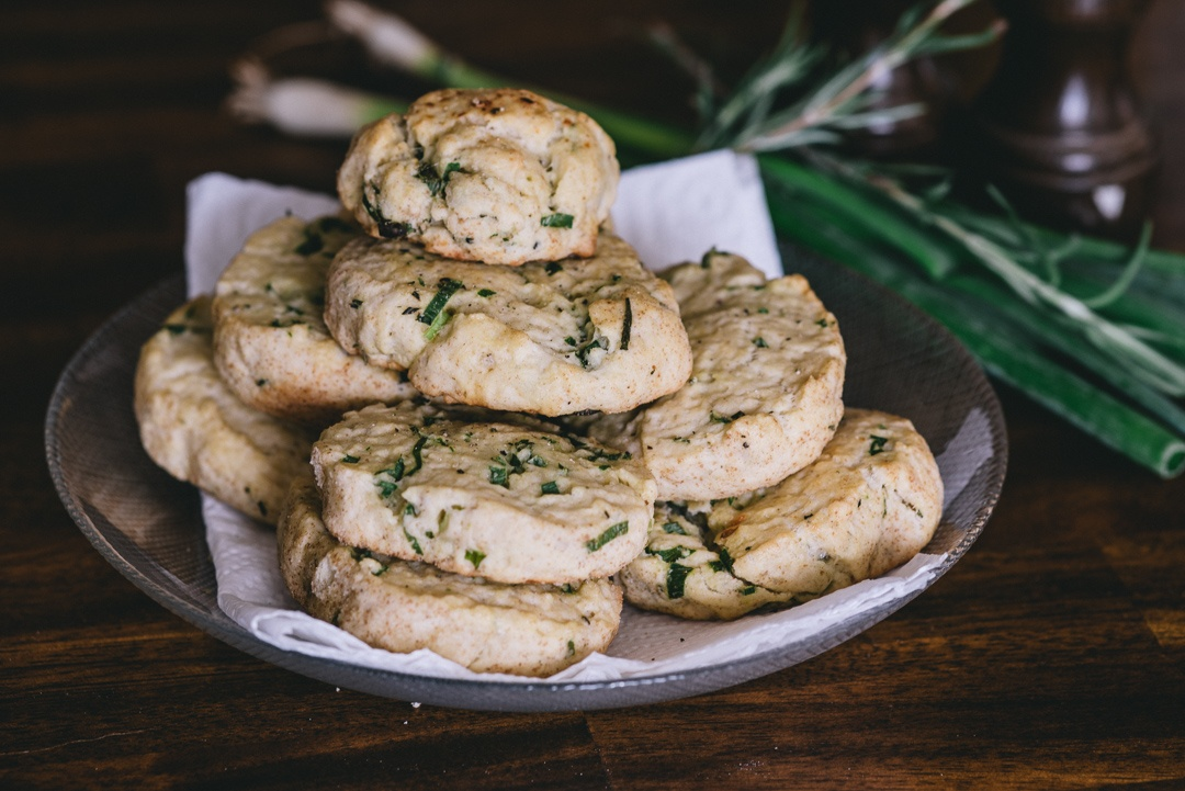 Boston Organics - Scallion Biscuits