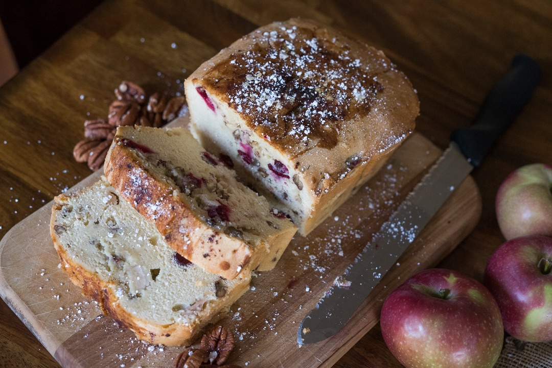 Boston Organics - Cranberry-Apple Vanilla Buttermilk Cake