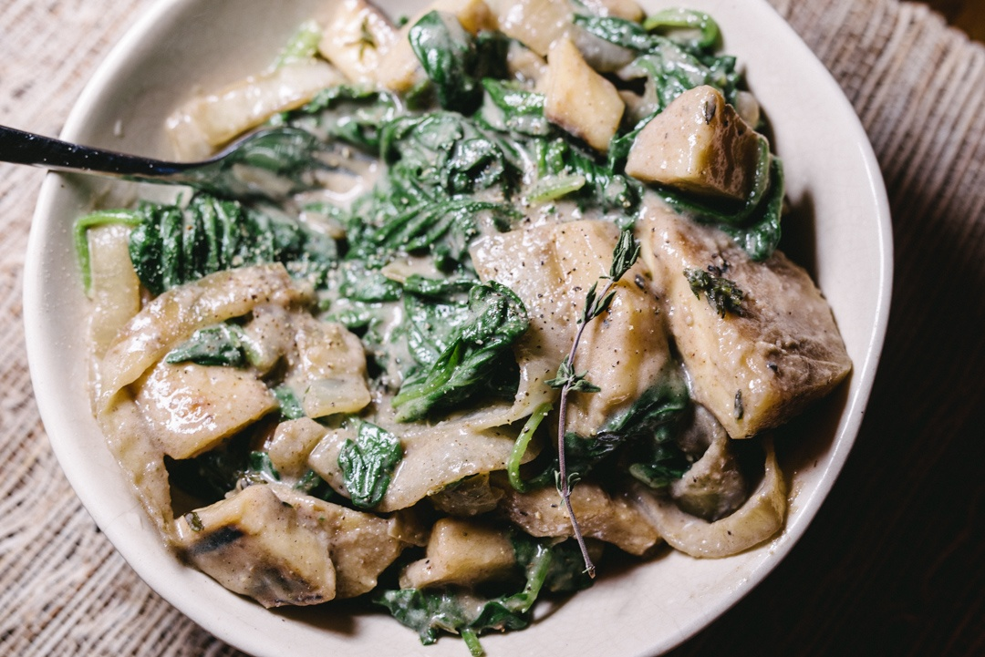 Boston Organics - Creamed Spinach and Parsnips