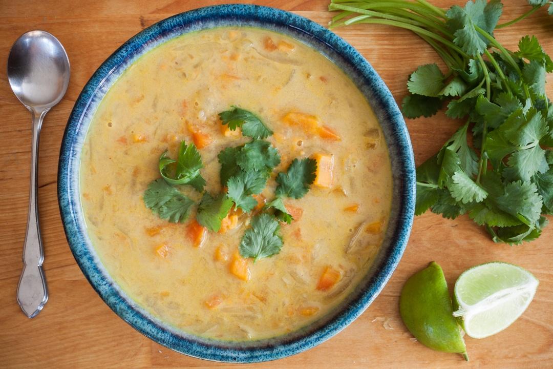 Boston Organics - Curried Carrot and Sweet Potato Soup
