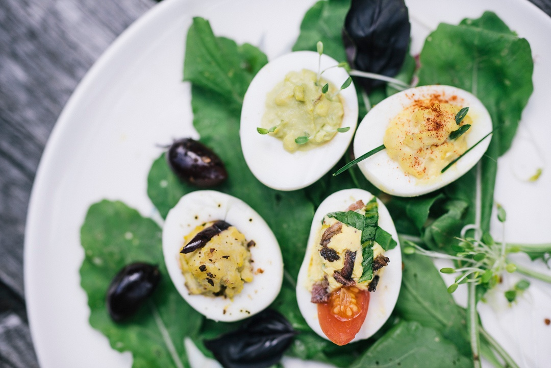Boston Organics - Deviled Eggs Four Ways