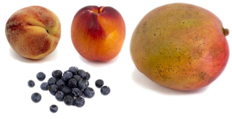Four Organic Fruits