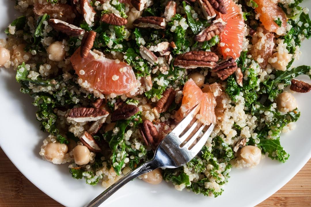 Boston Organics - Kale Salad with Orange Champagne Vinaigrette
