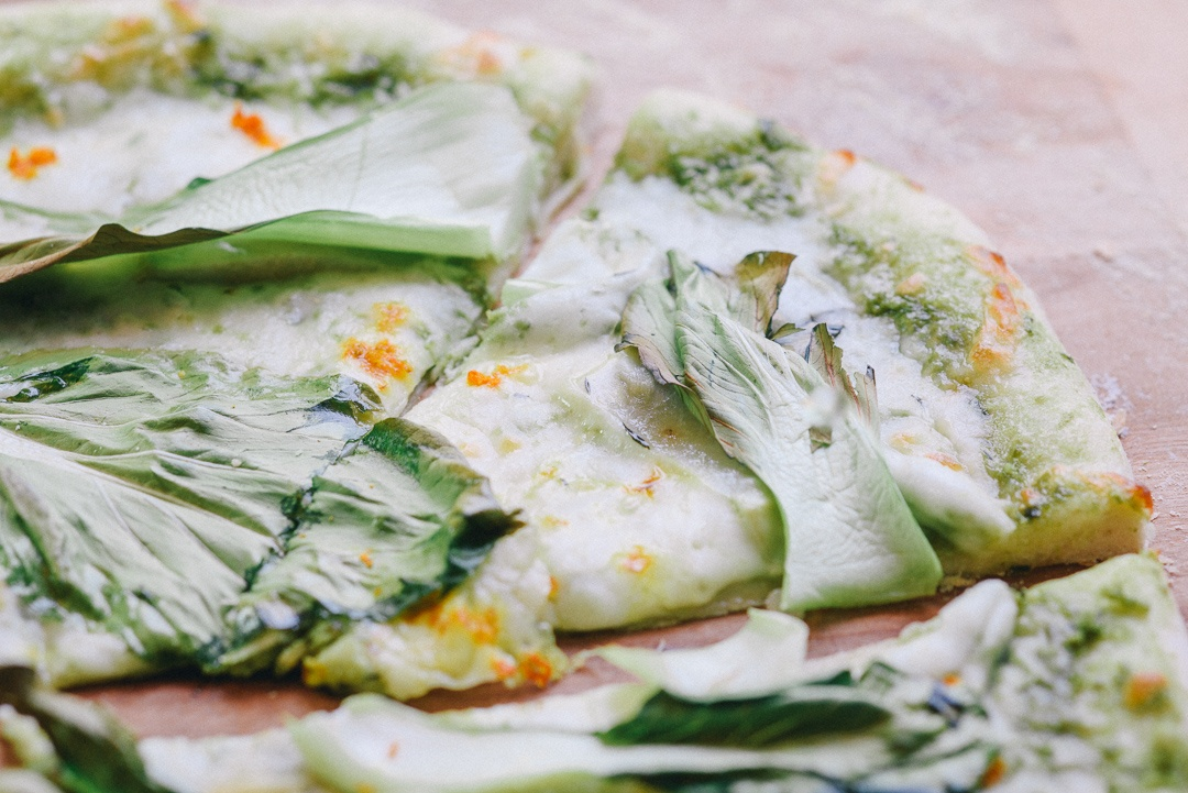 Boston Organics - Kohlrabi Bok Choy Pizza