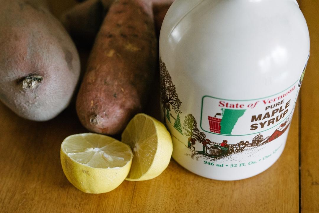 Boston Organics - Maple Roasted Sweet Potatoes Ingredients