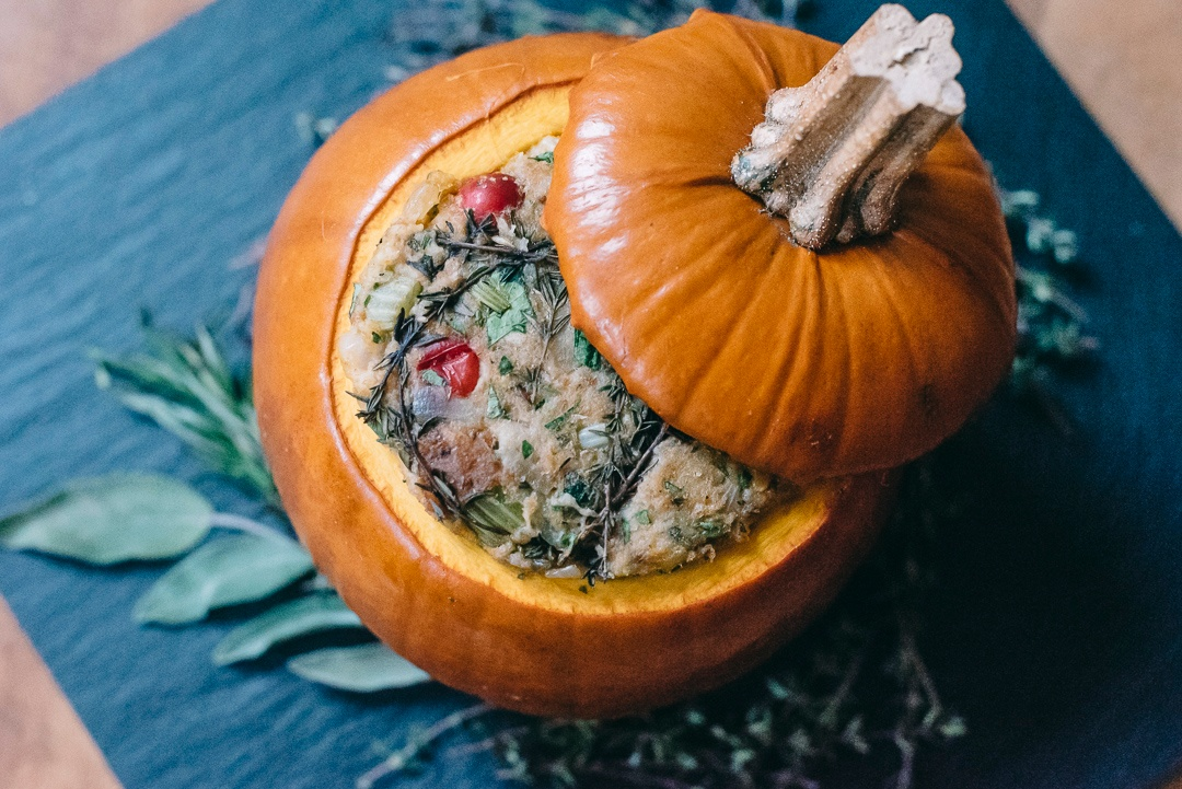 Vegan Stuffing in Pumpkin by Boston Organics