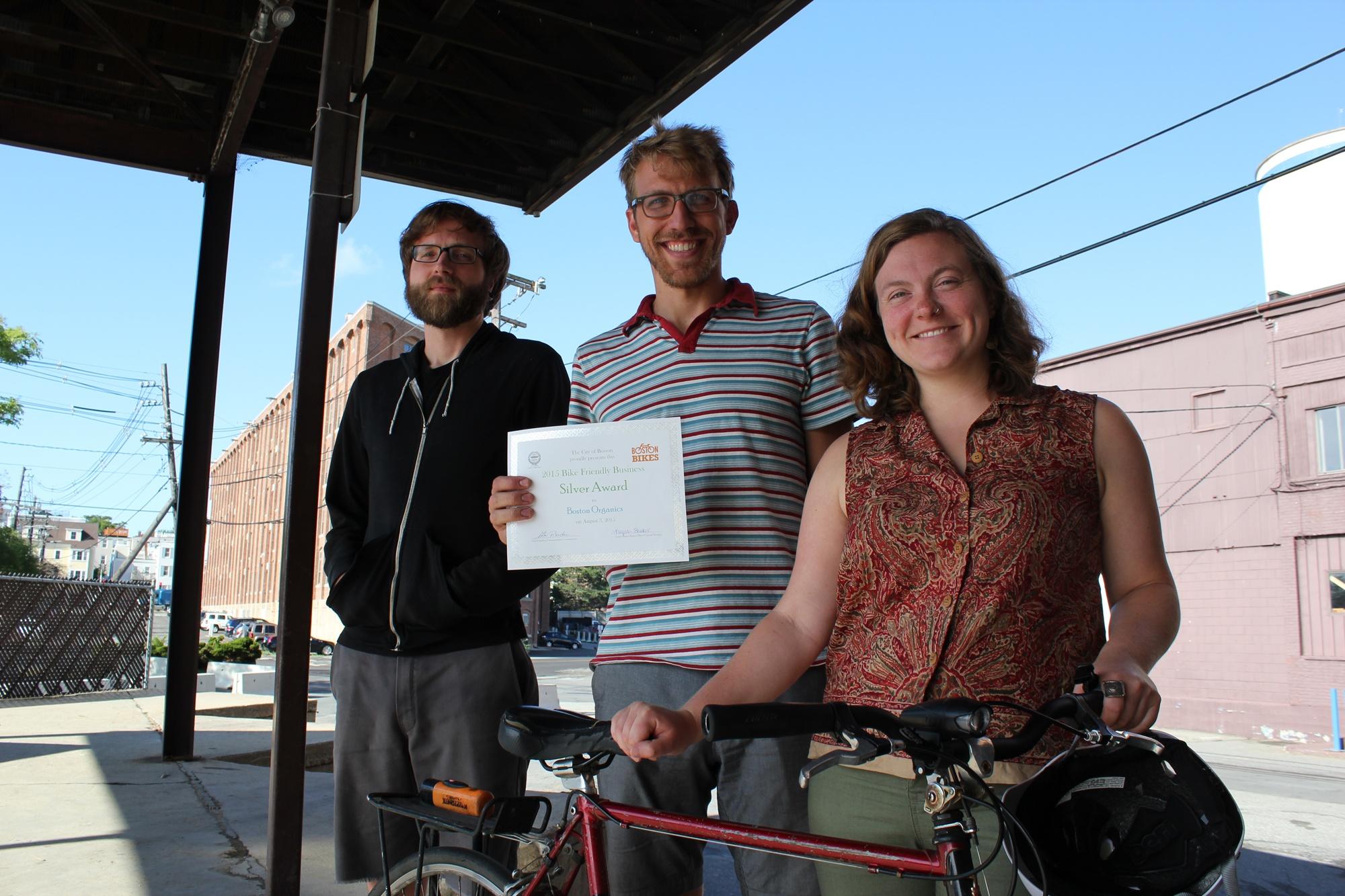 Boston Organics - Bike Friendly Business Award recipient
