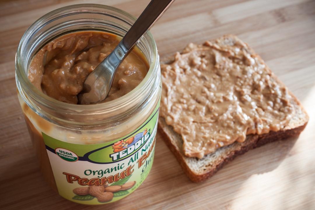 Boston Organics - Peanut butter makes a great snack.