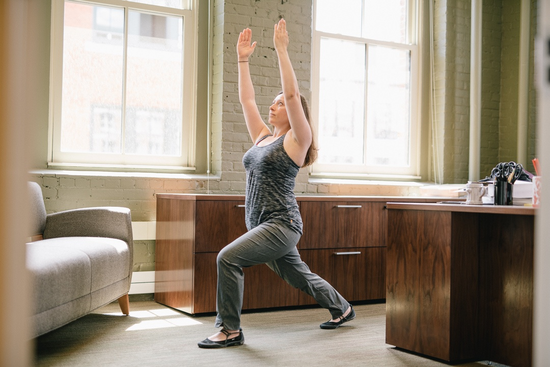 Your living room is the perfect place to get your yoga on.