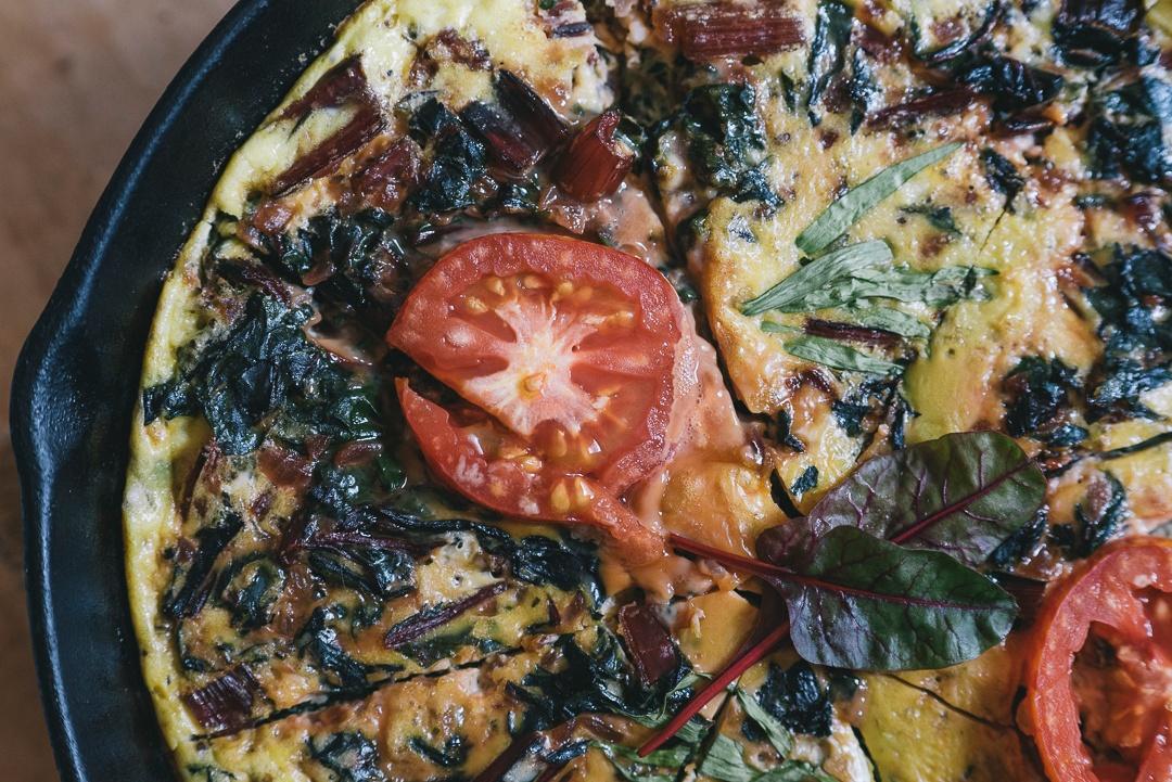 Boston Organics - Swiss Chard Frittata