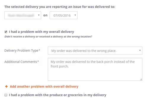 Overall Delivery Issue