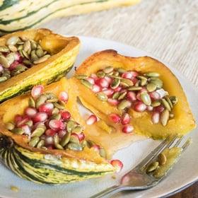 delicata-squash-with-honey-pomegranate-seeds-and-pepitas