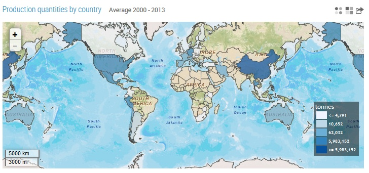 map asparagus production   FAO Stat