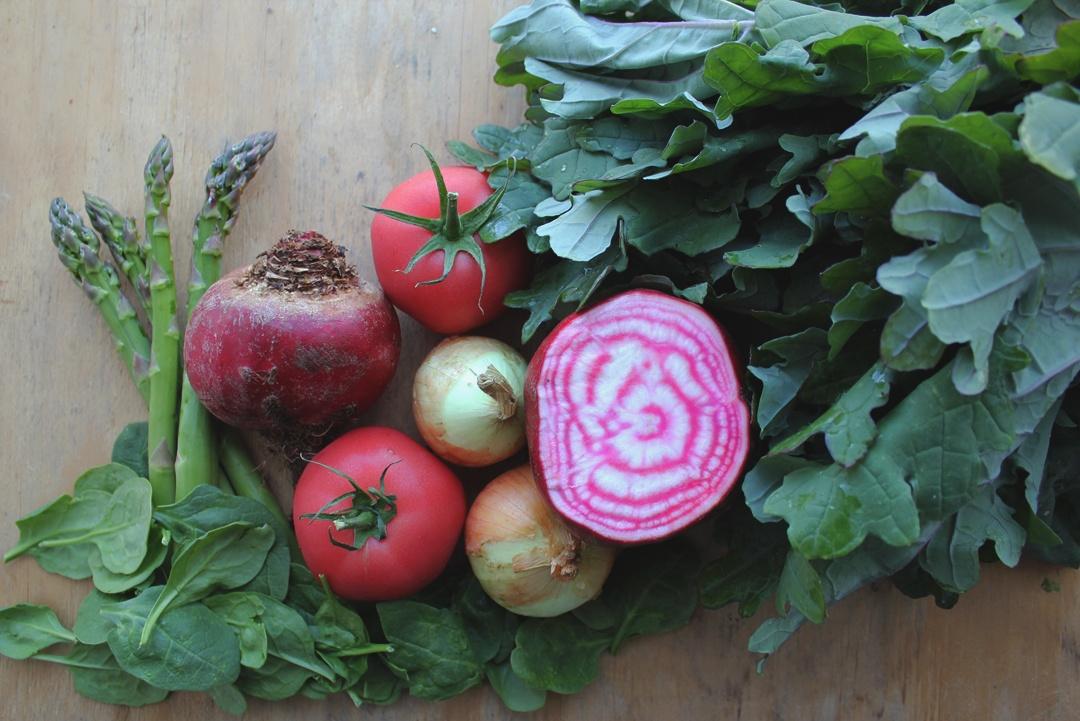 Local Tomatoes, Asparagus, Beets, Spinach, Kale   Boston Organics