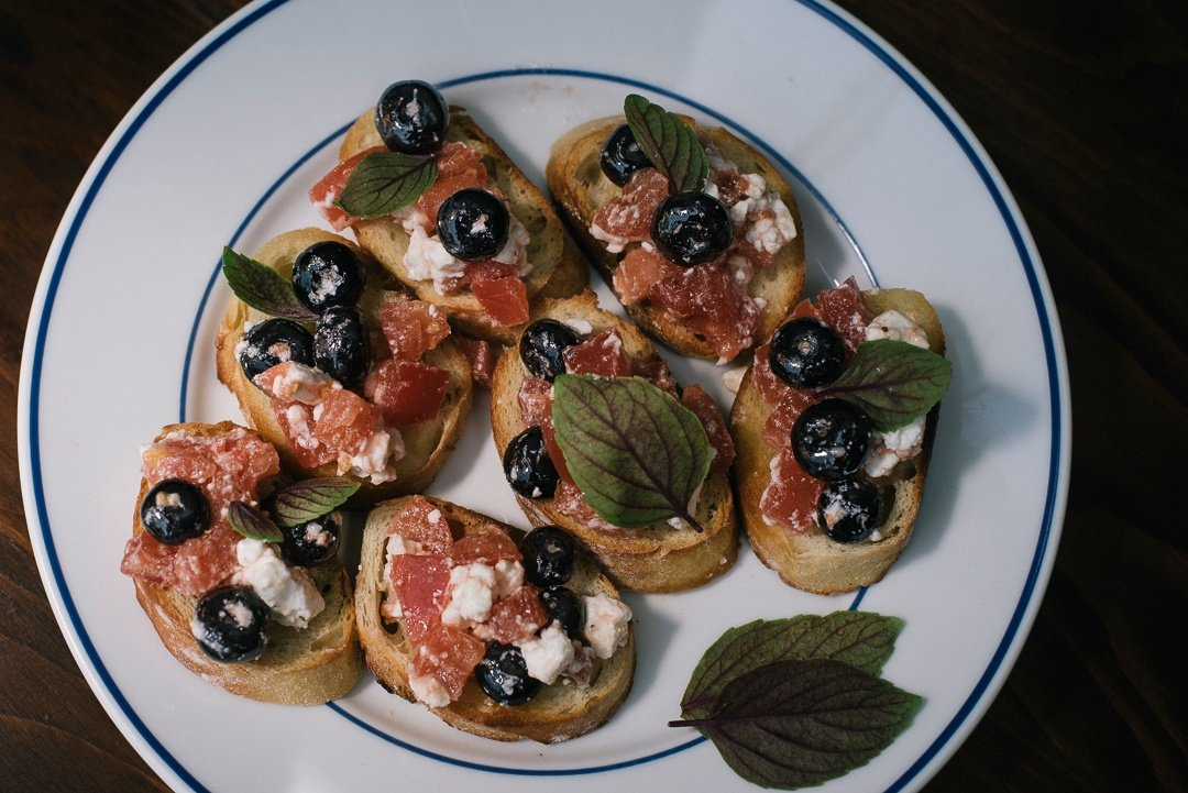 Blueberry Bruschetta | Boston Organics