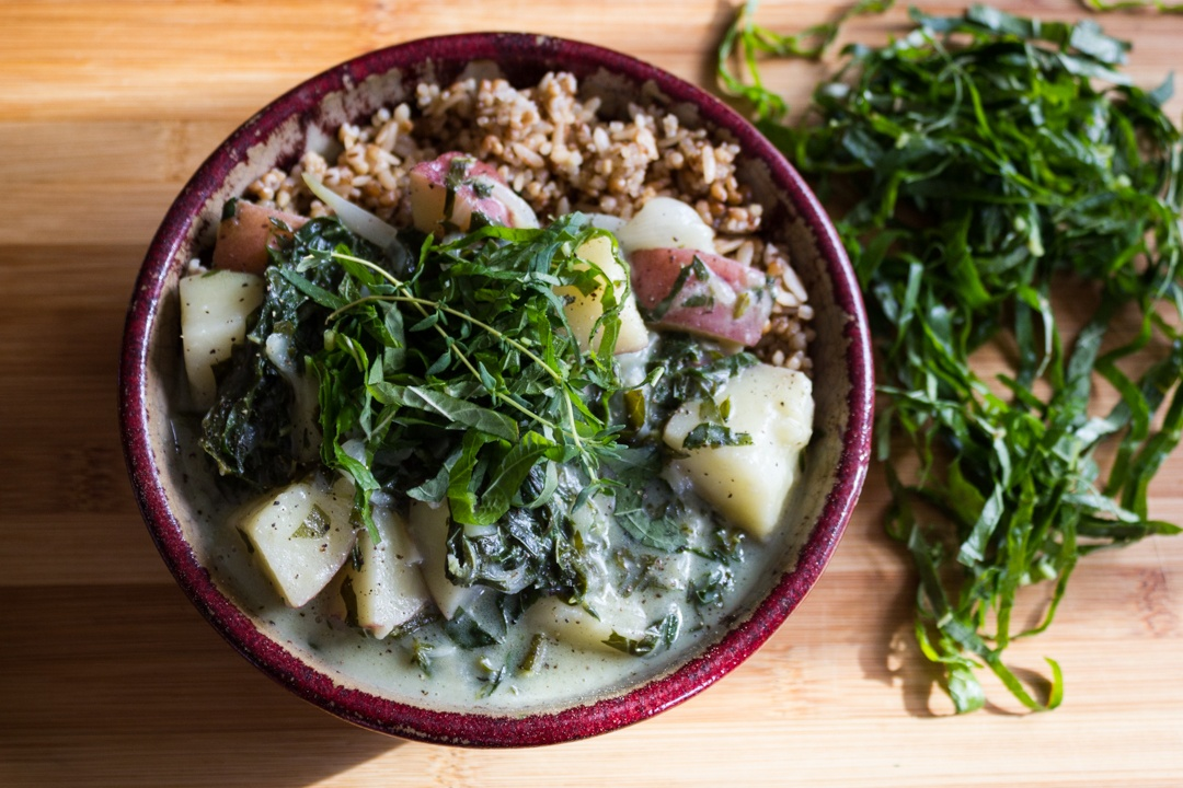 Calaloo potato stew   Boston Organics